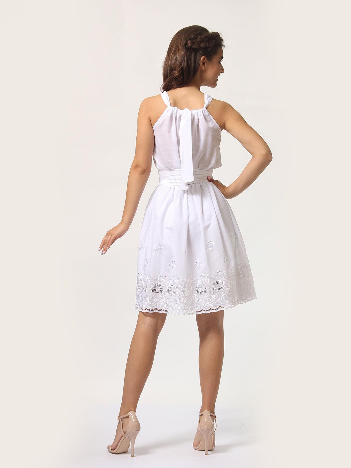 Платье-сарафан белое | 4290446 | фото 6