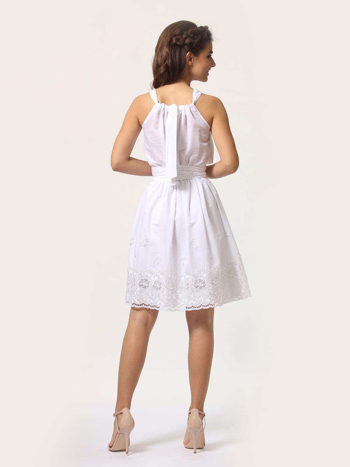 Платье-сарафан белое | 4290446 | фото 7