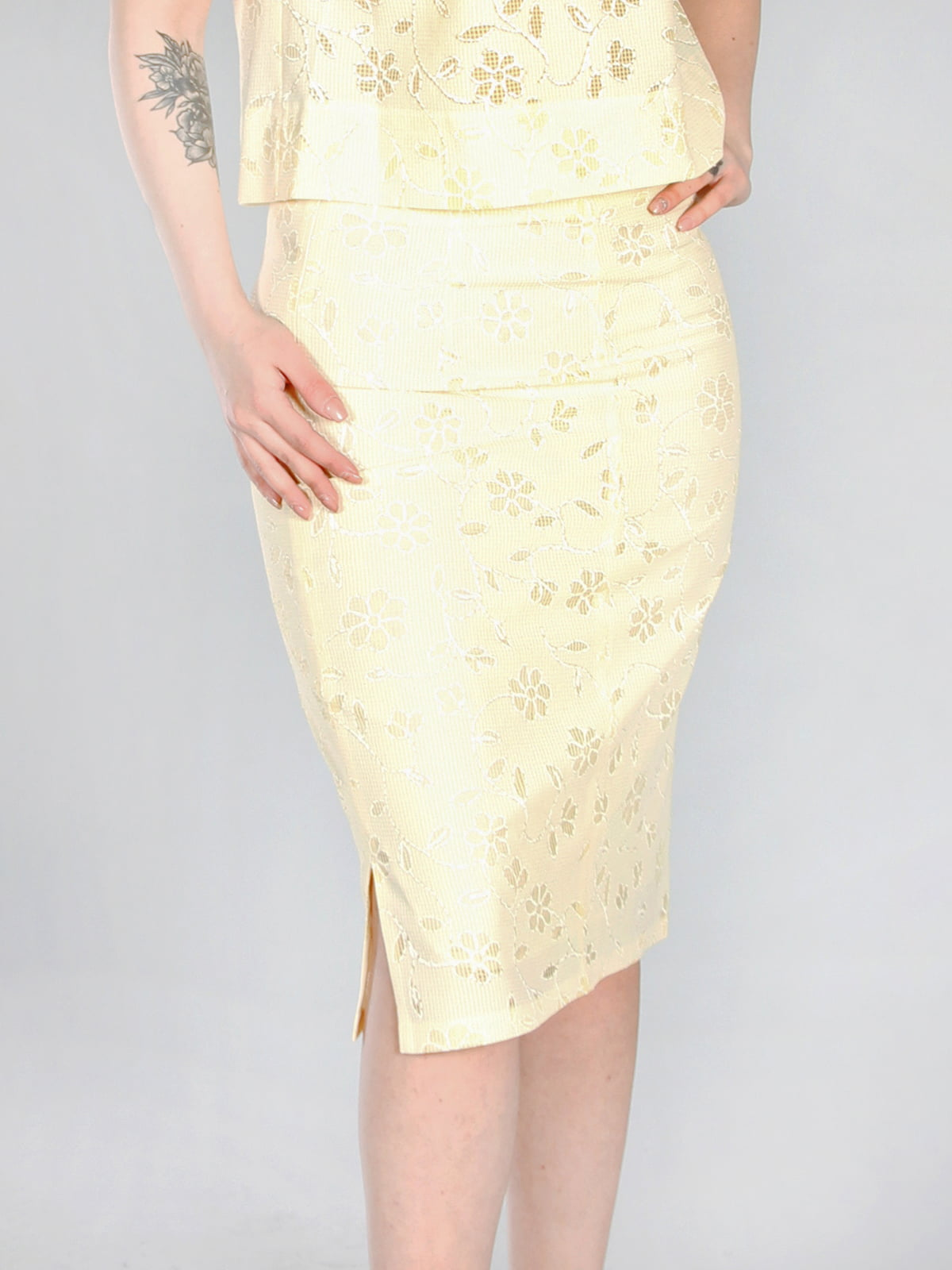 Юбка желтая с цветочным рисунком   4294008