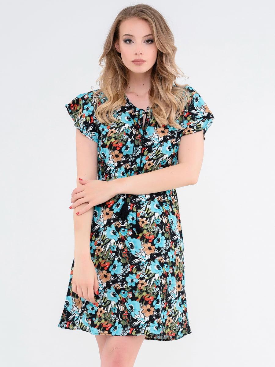Платье цветочной расцветки | 4272198