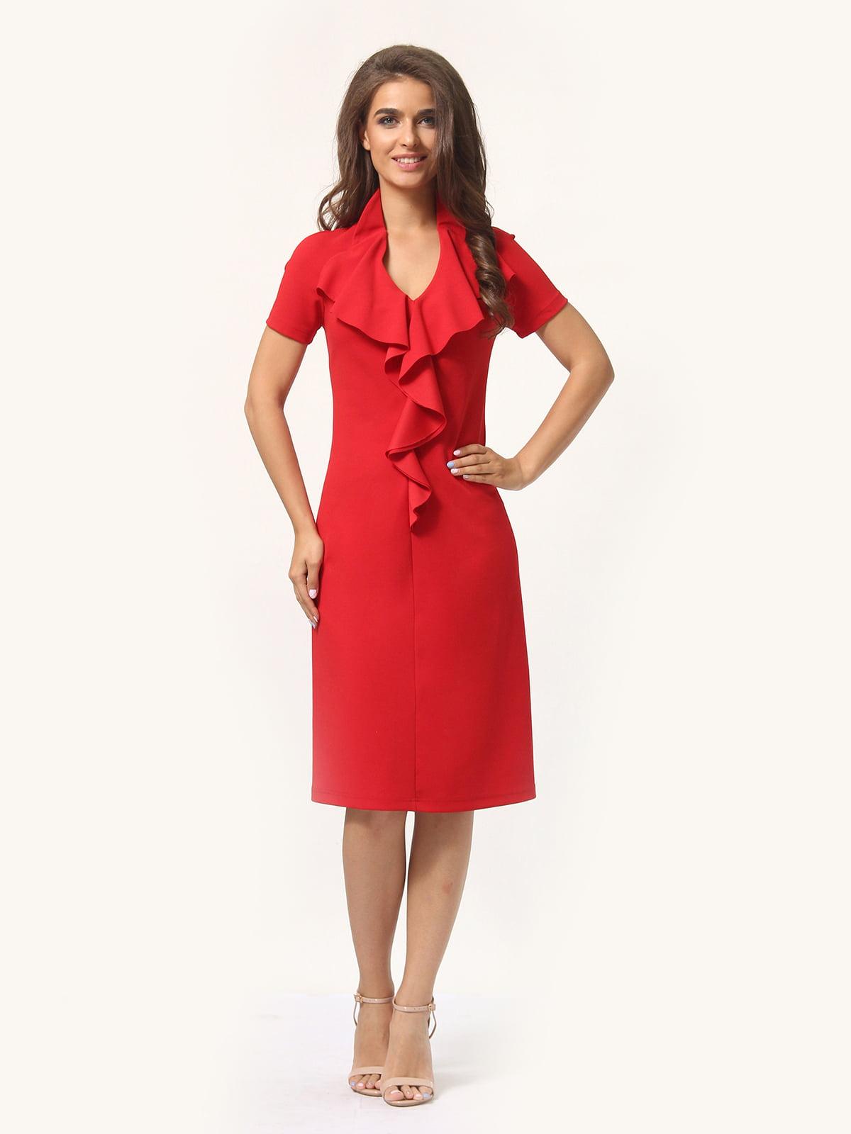 Платье красно-белое | 4301927 | фото 2