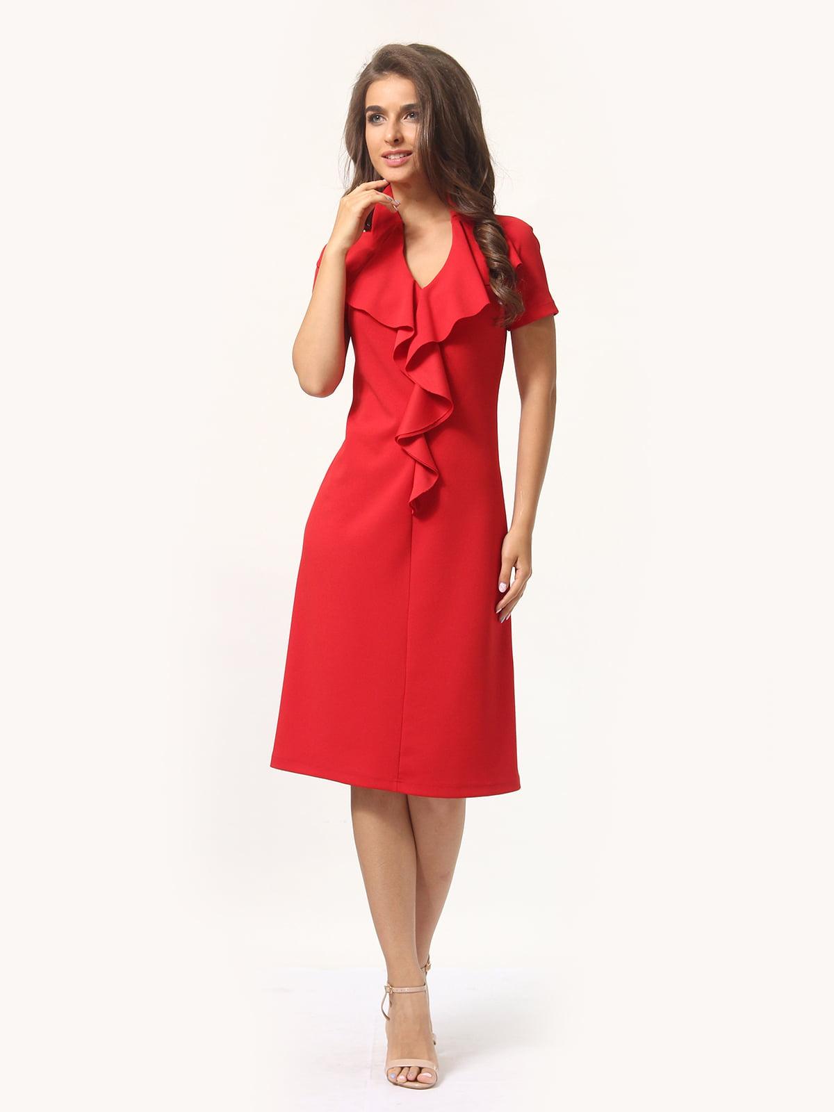 Платье красно-белое | 4301927 | фото 3