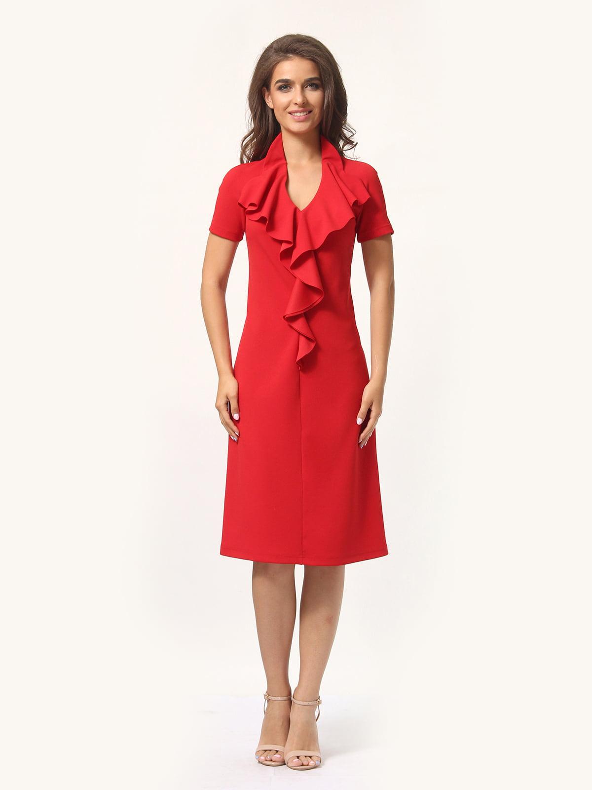 Платье красно-белое | 4301927 | фото 4