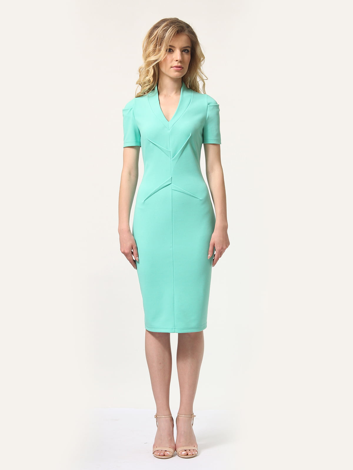 Платье мятного цвета | 4301932 | фото 2