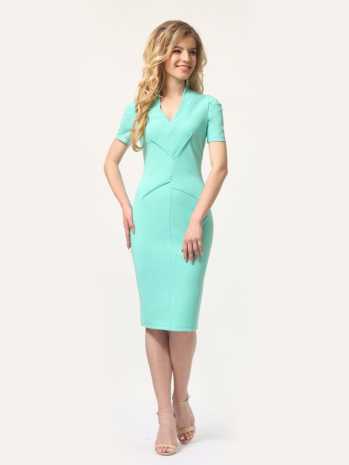 Платье мятного цвета | 4301932 | фото 3
