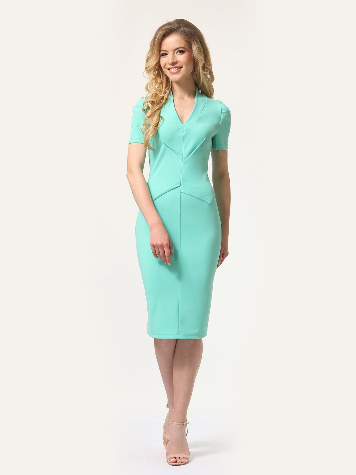 Платье мятного цвета | 4301932 | фото 4