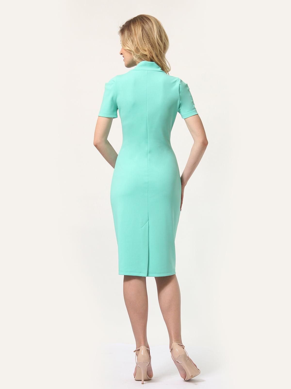 Платье мятного цвета | 4301932 | фото 5