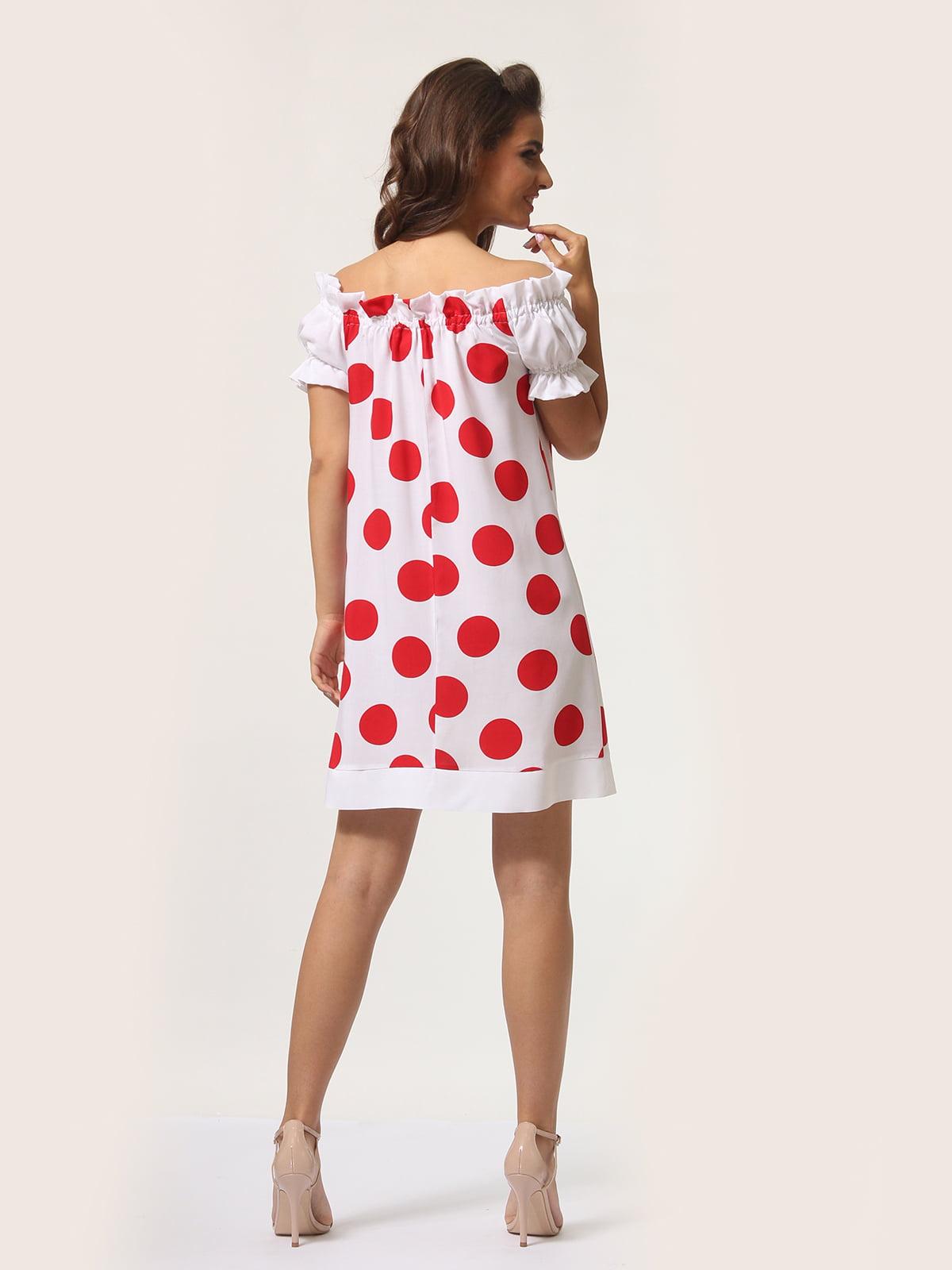 Платье белое в горошек | 4301918 | фото 4