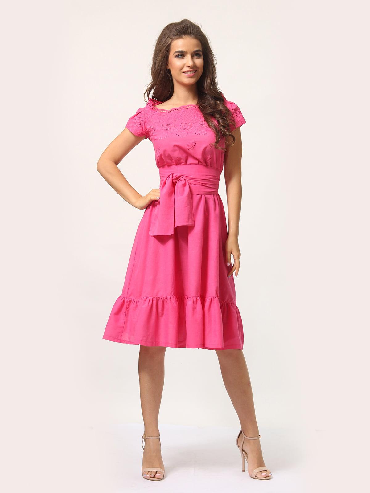 Платье цвета фуксии   4301924