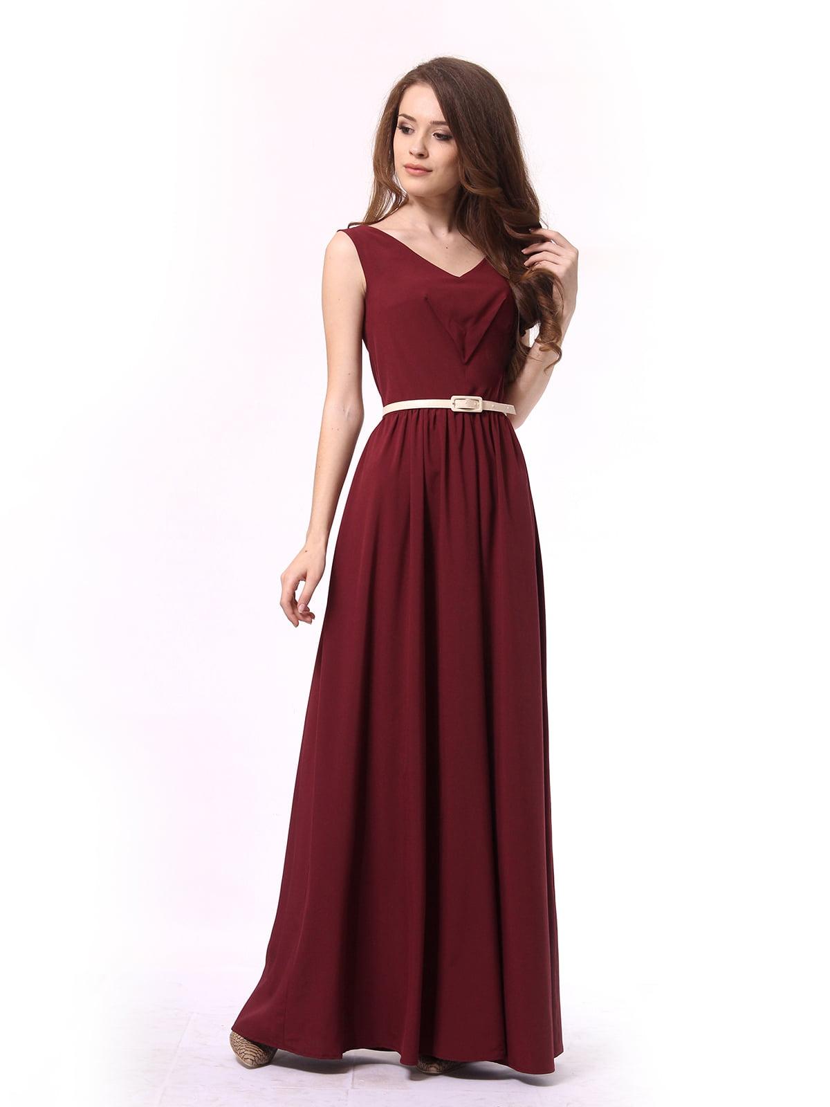 Платье бордовое | 4290708 | фото 2