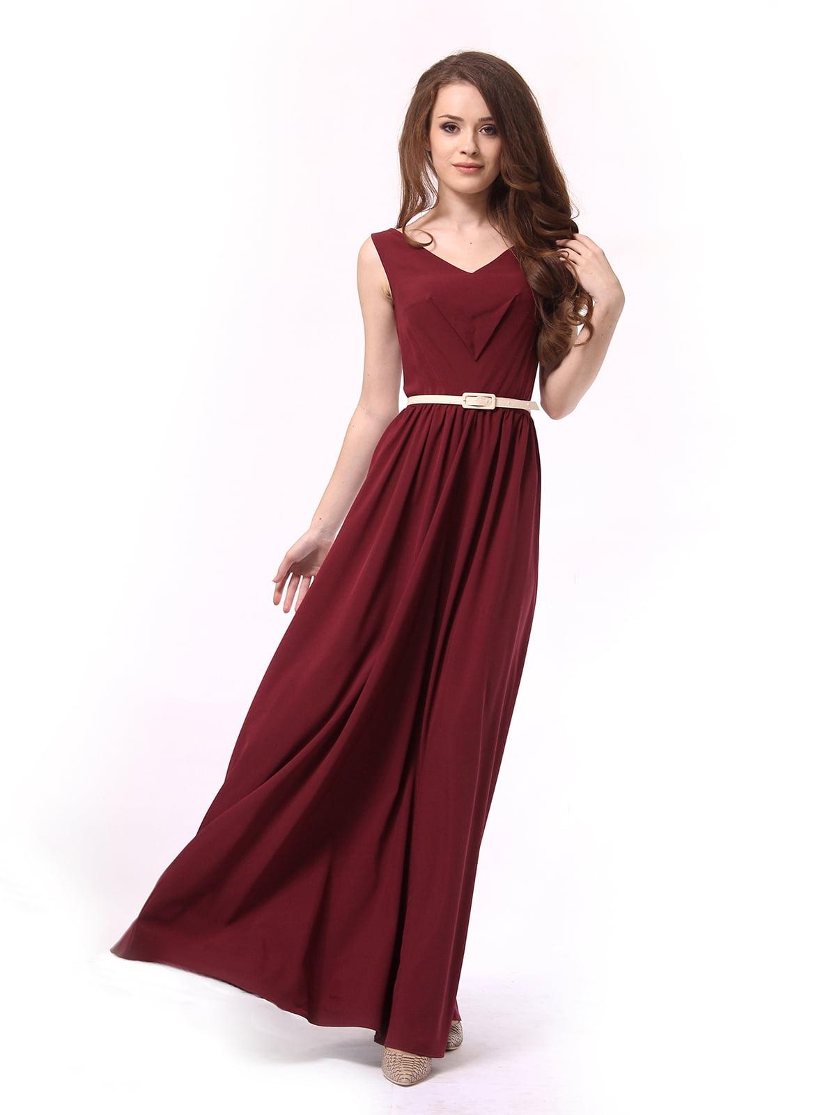 Платье бордовое | 4290708 | фото 3