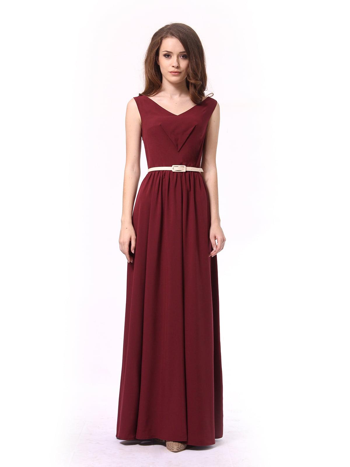 Платье бордовое | 4290708 | фото 4