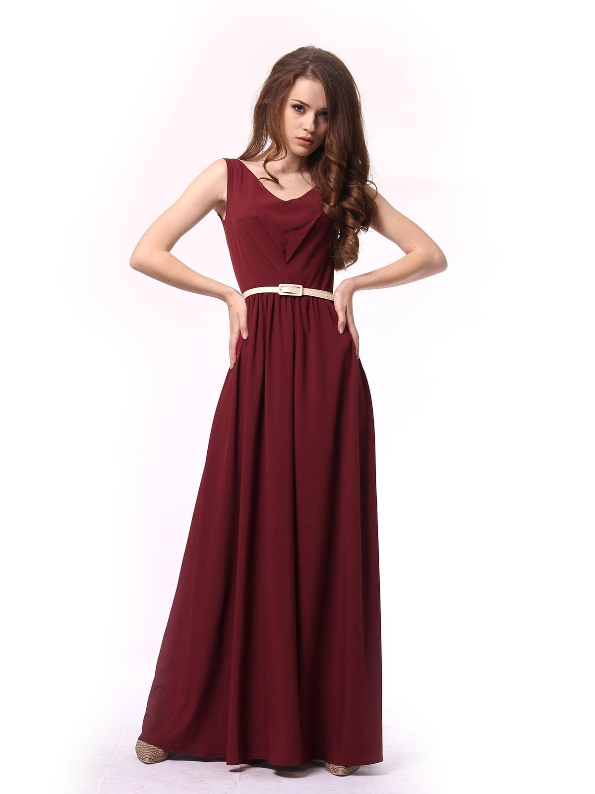 Платье бордовое | 4290708