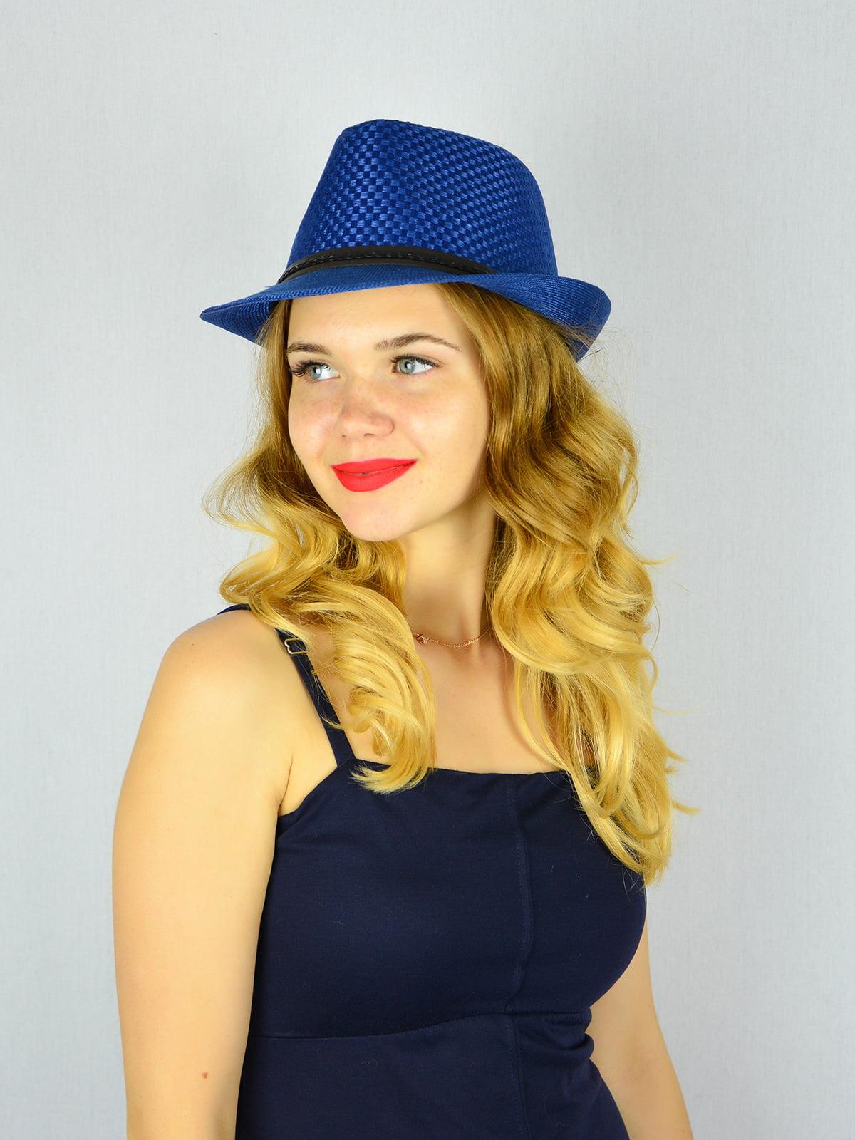 Шляпа синяя | 4305095 | фото 2