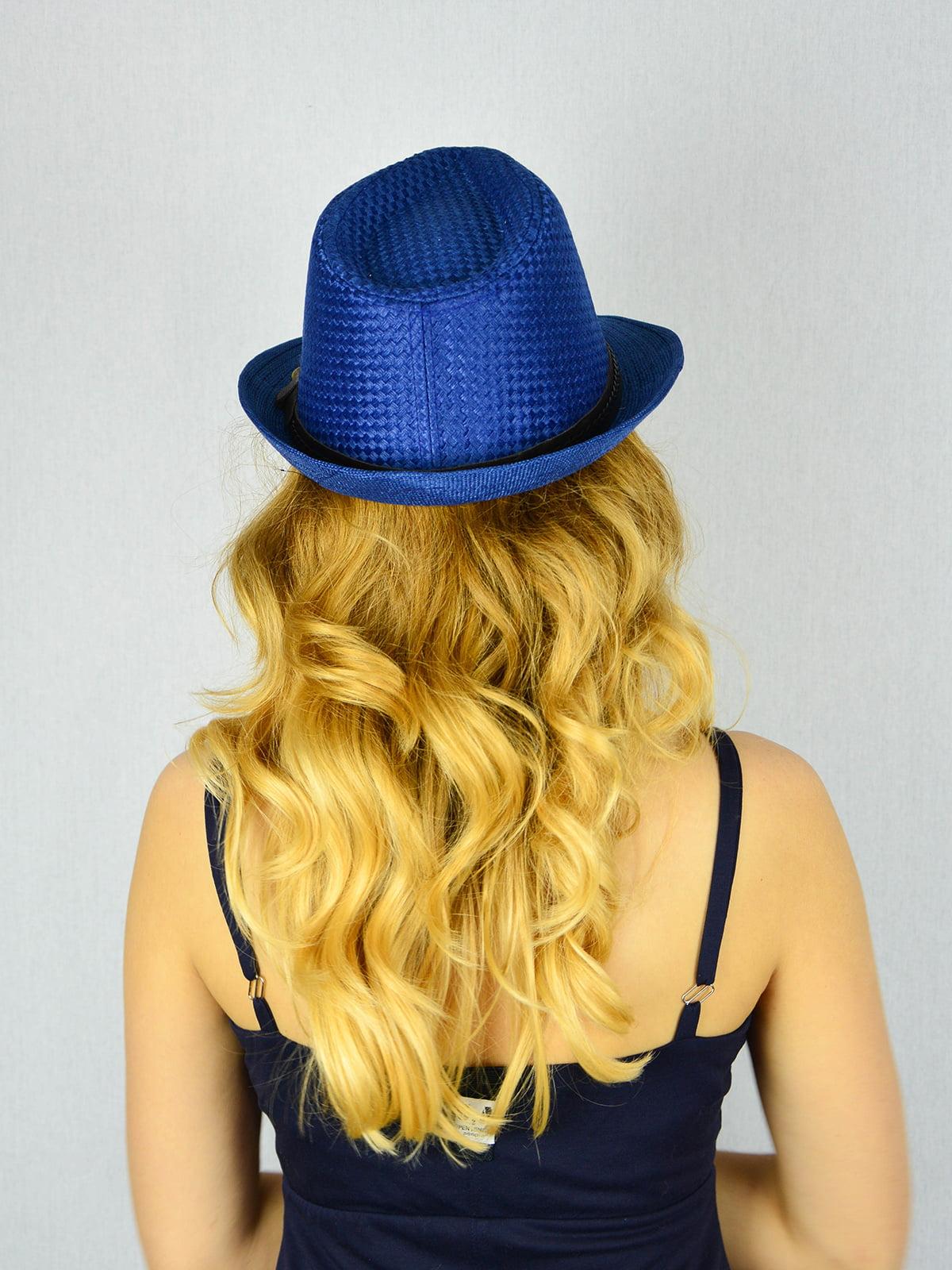 Шляпа синяя | 4305095 | фото 3