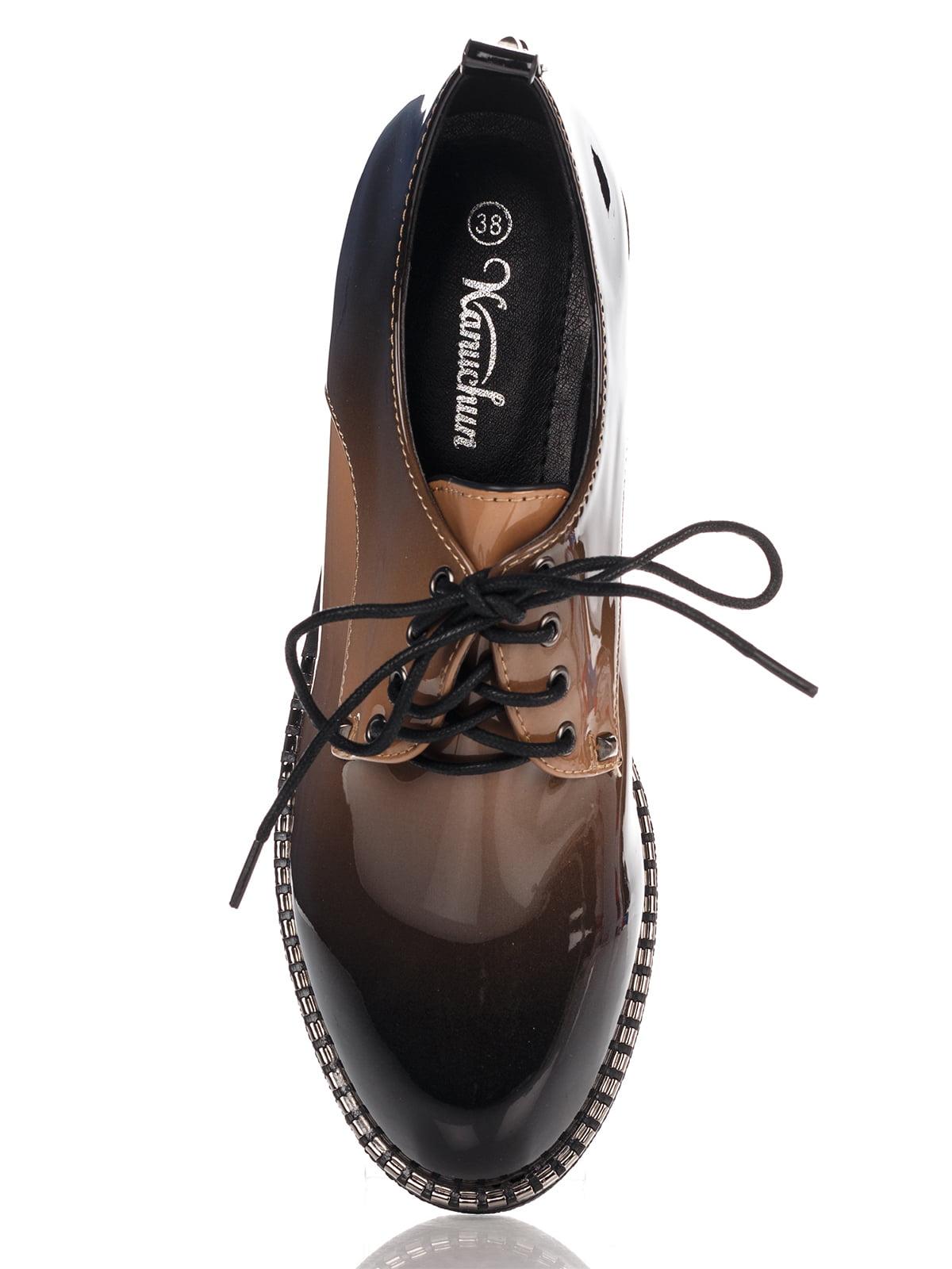 Туфли темно-коричневые | 4306393 | фото 5
