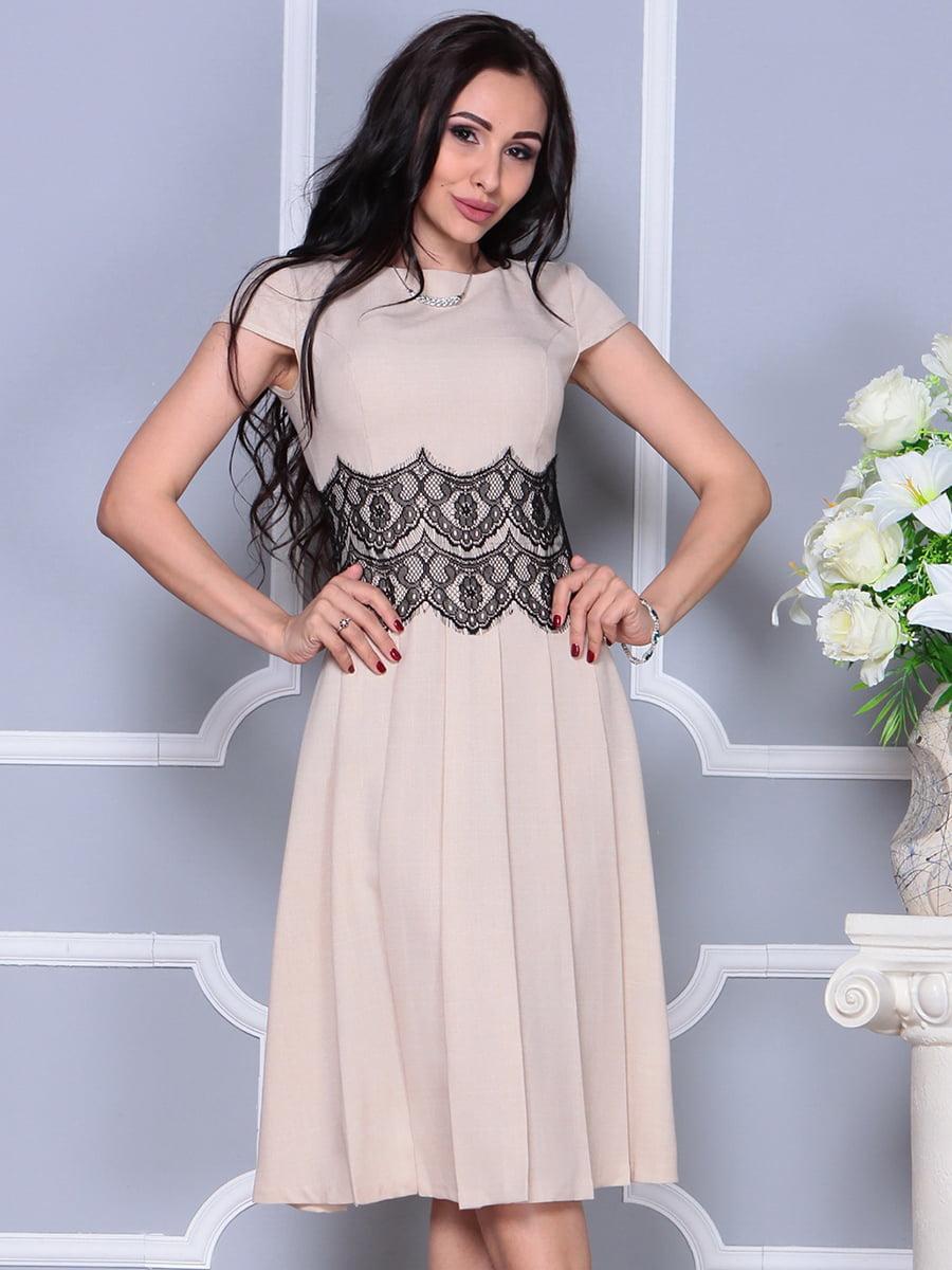 Платье бежевое | 4297681 | фото 4