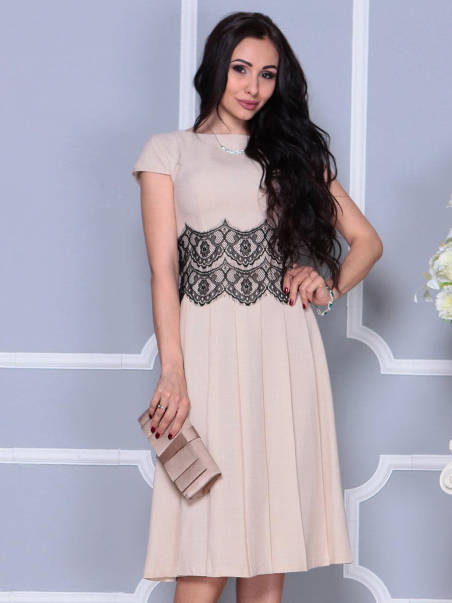 Платье бежевое | 4297681