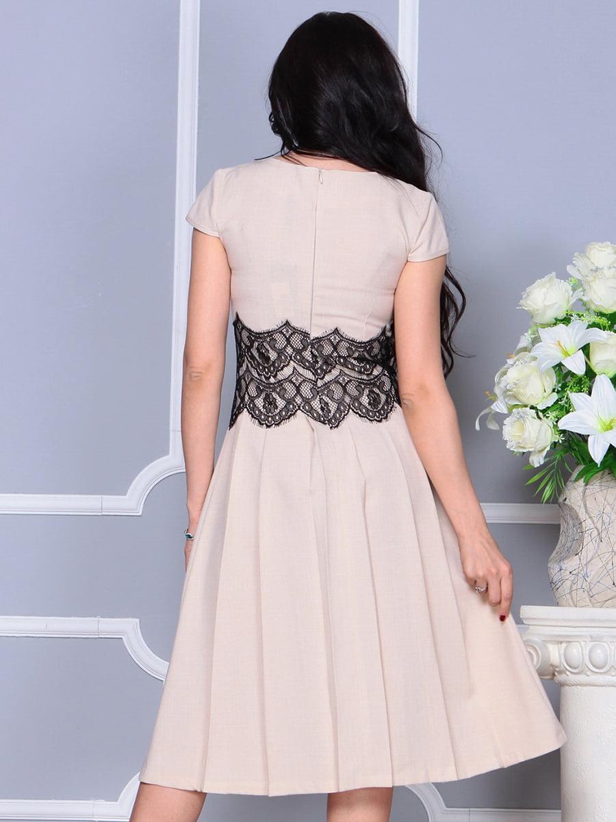 Платье бежевое | 4297681 | фото 2