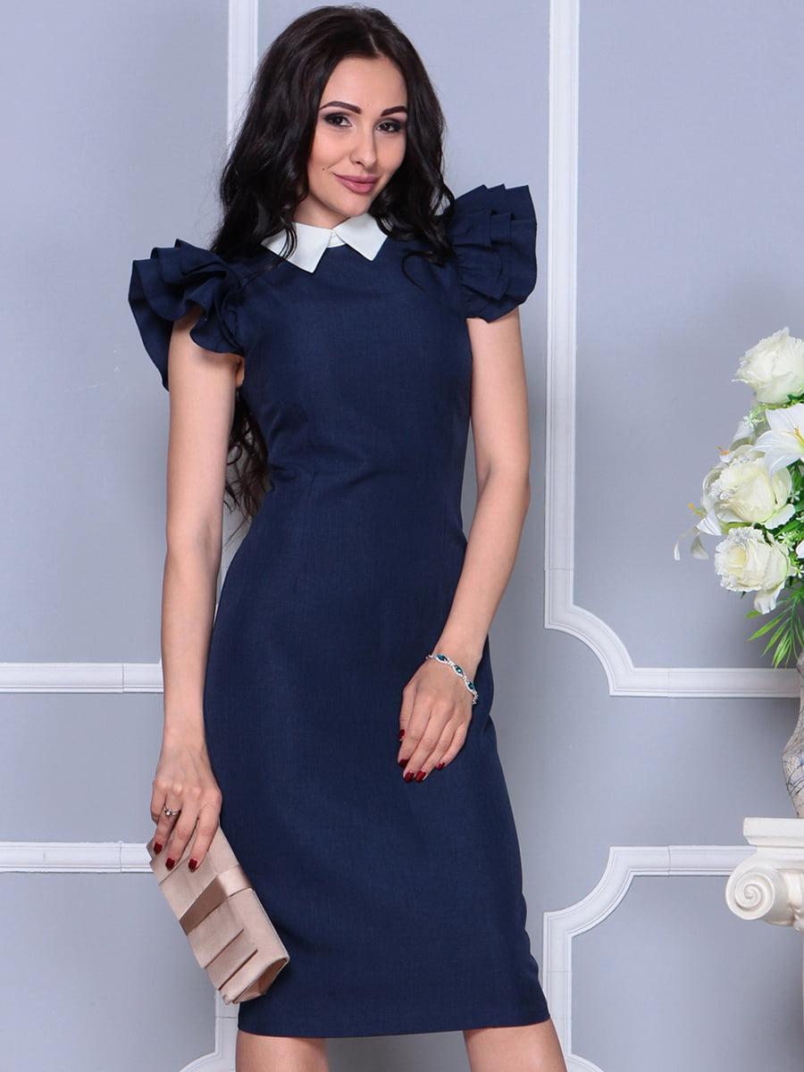 Платье темно-синее | 4297692 | фото 3
