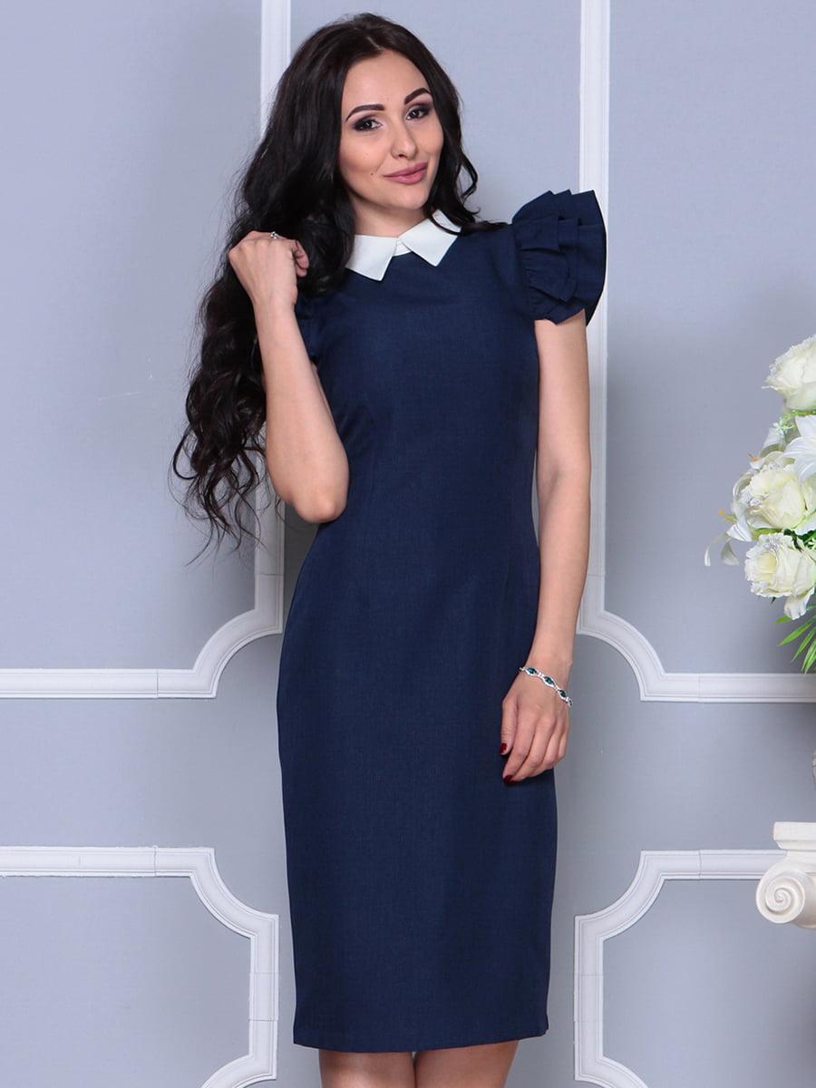 Платье темно-синее | 4297692 | фото 4