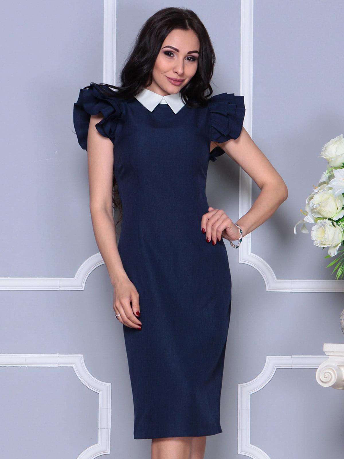 Платье темно-синее | 4297692 | фото 5