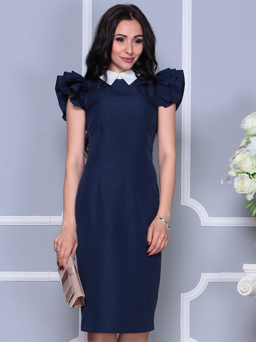 Платье темно-синее | 4297692