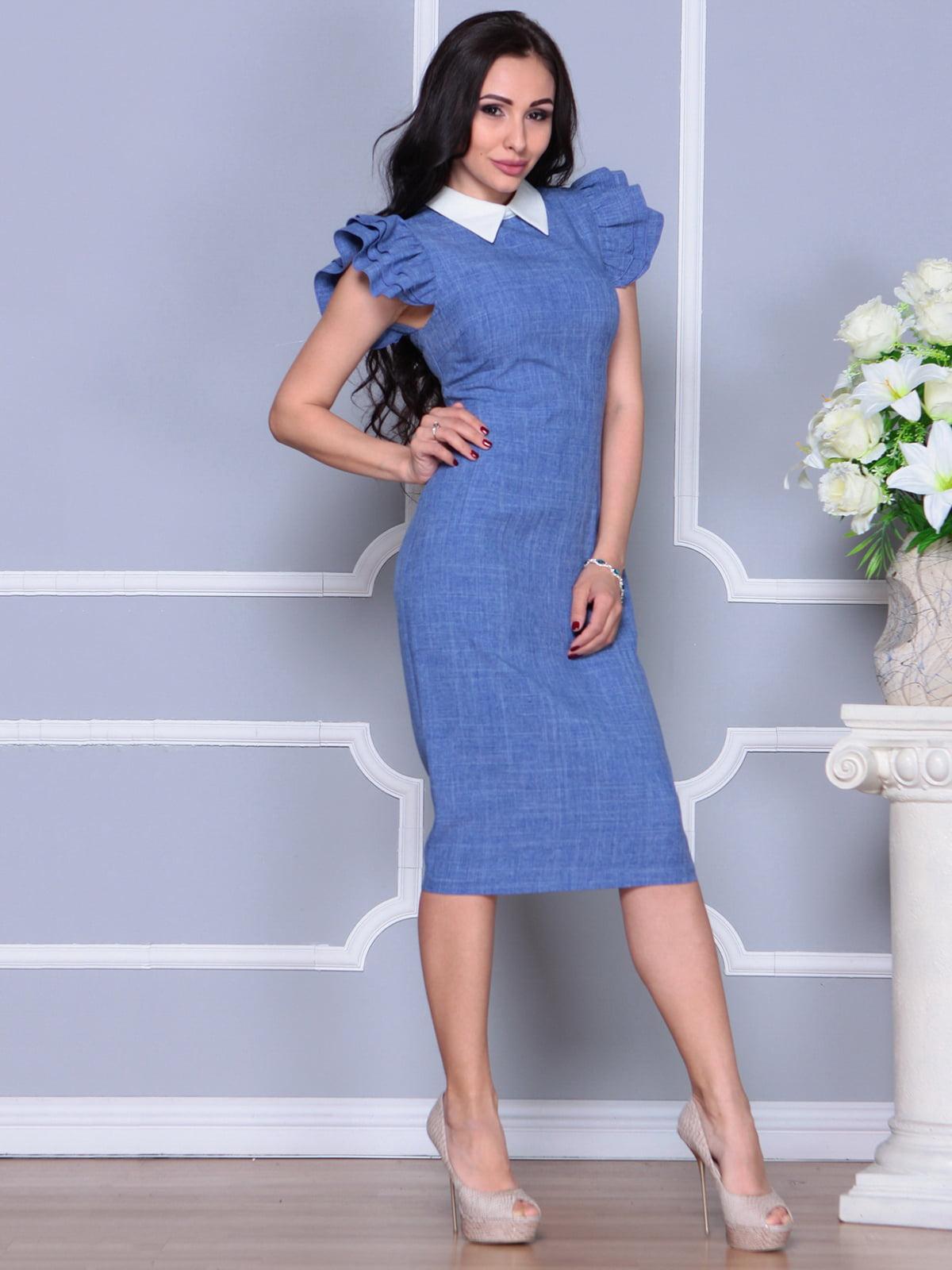 Платье синее   4297693   фото 4