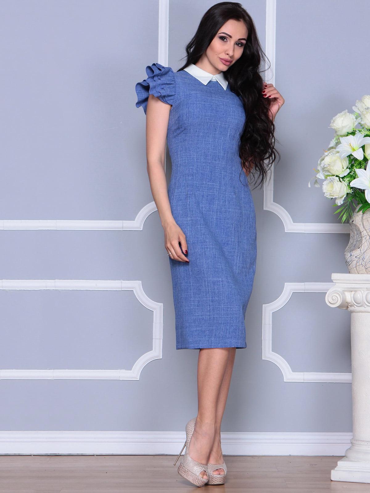 Платье синее   4297693   фото 5