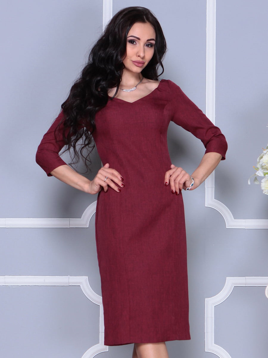 Платье светло-сливовое | 4297697 | фото 3