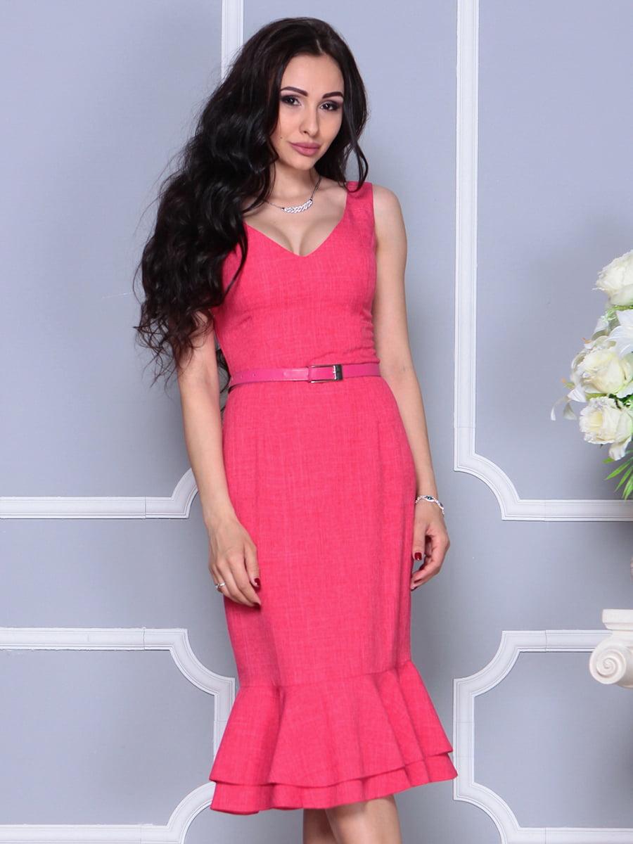 Сукня кольору червоний корал | 4297699