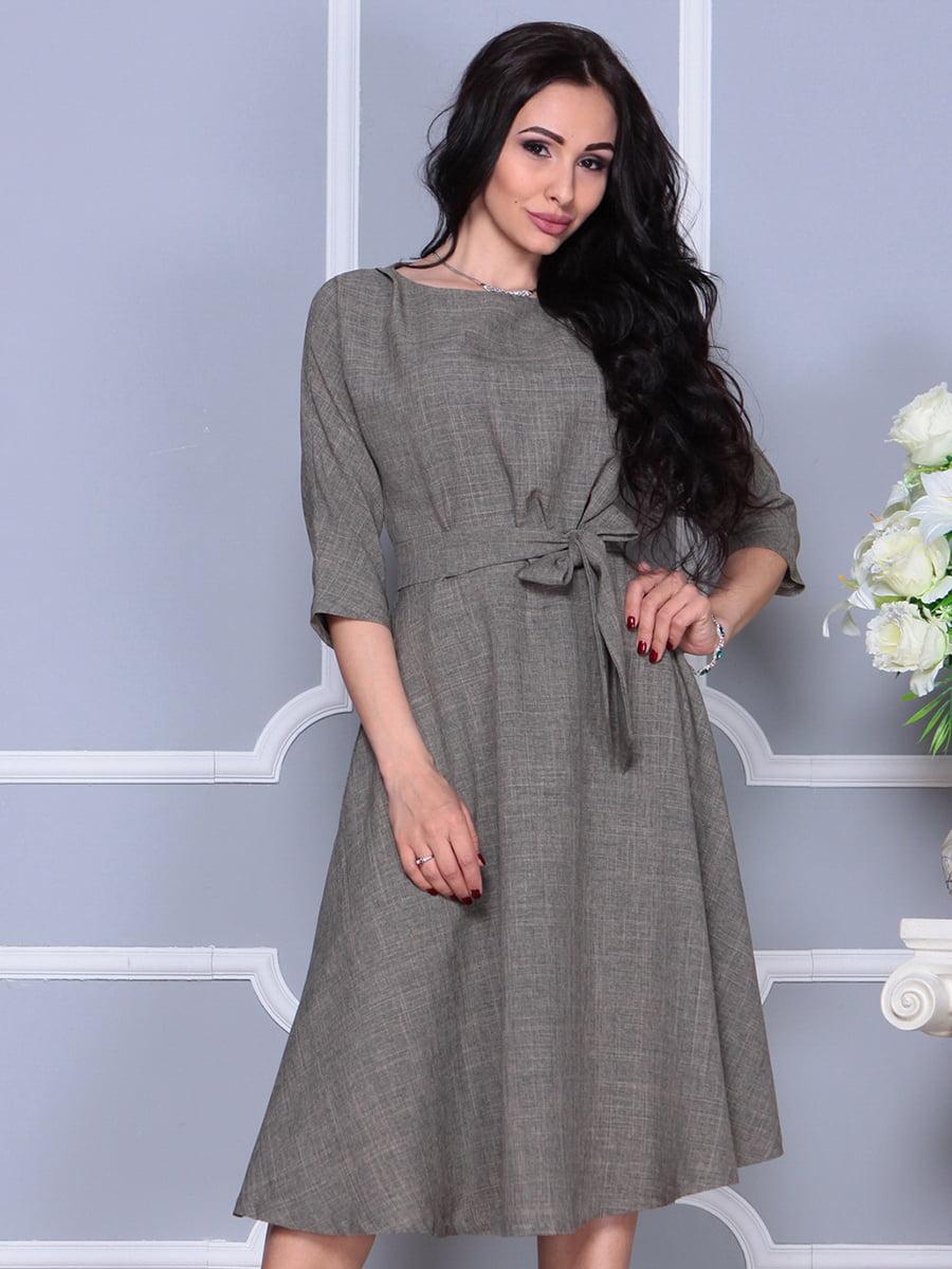 Платье цвета бежевый хаки | 4297700 | фото 3