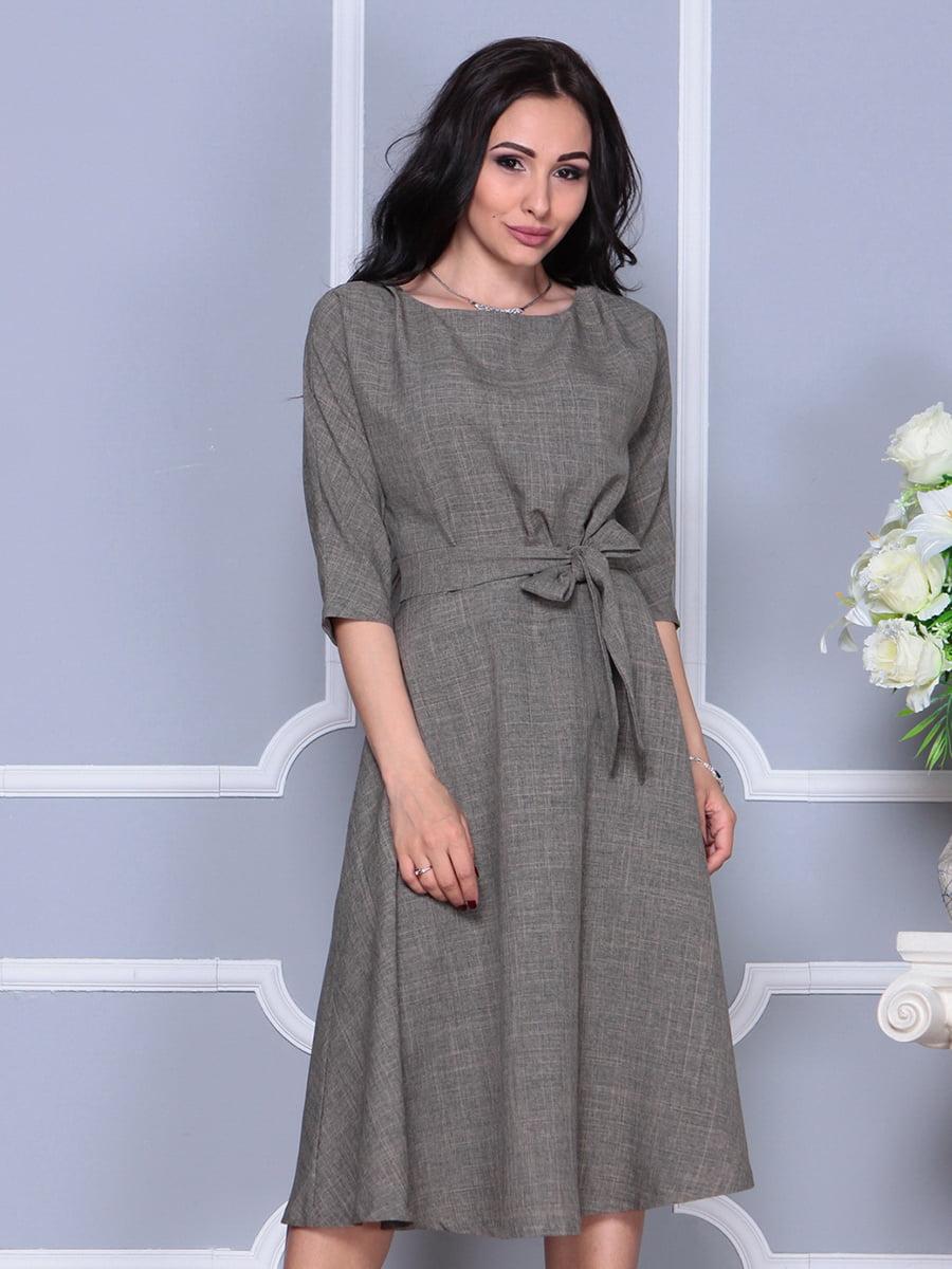 Платье цвета бежевый хаки | 4297700 | фото 4