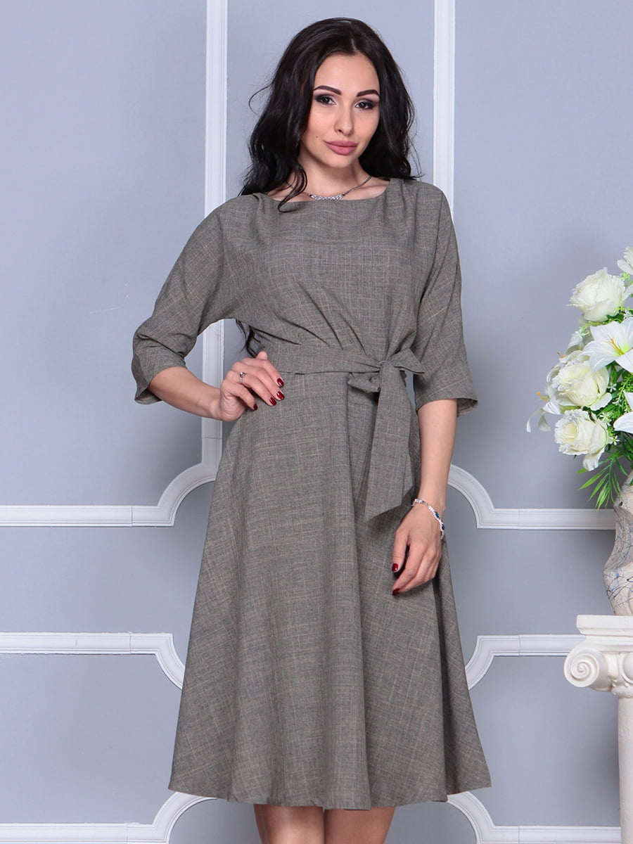 Платье цвета бежевый хаки | 4297700 | фото 5