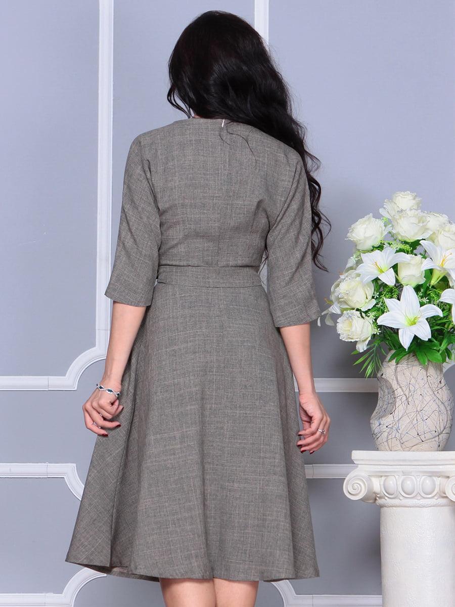 Платье цвета бежевый хаки | 4297700 | фото 2