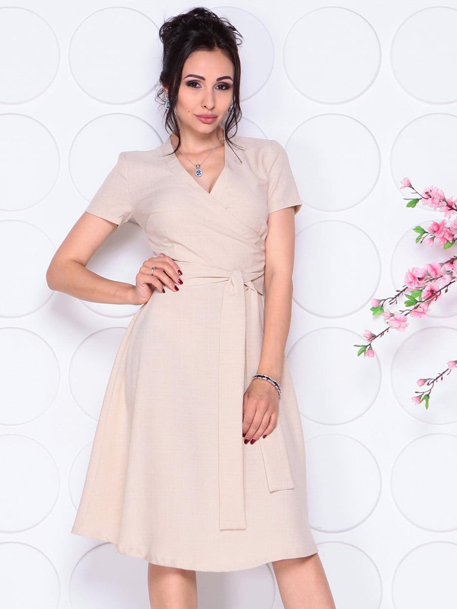 Платье бежевое | 4297702 | фото 3