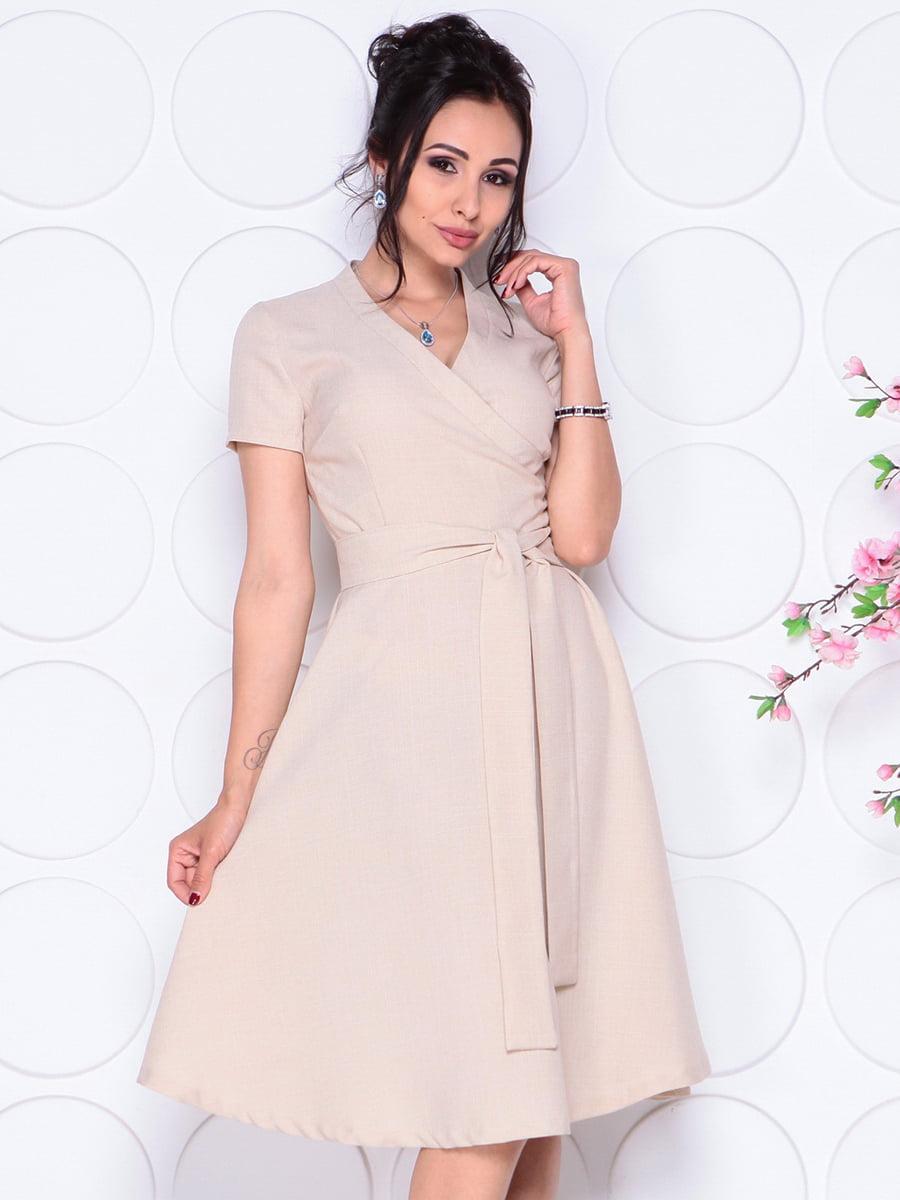 Платье бежевое | 4297702 | фото 4