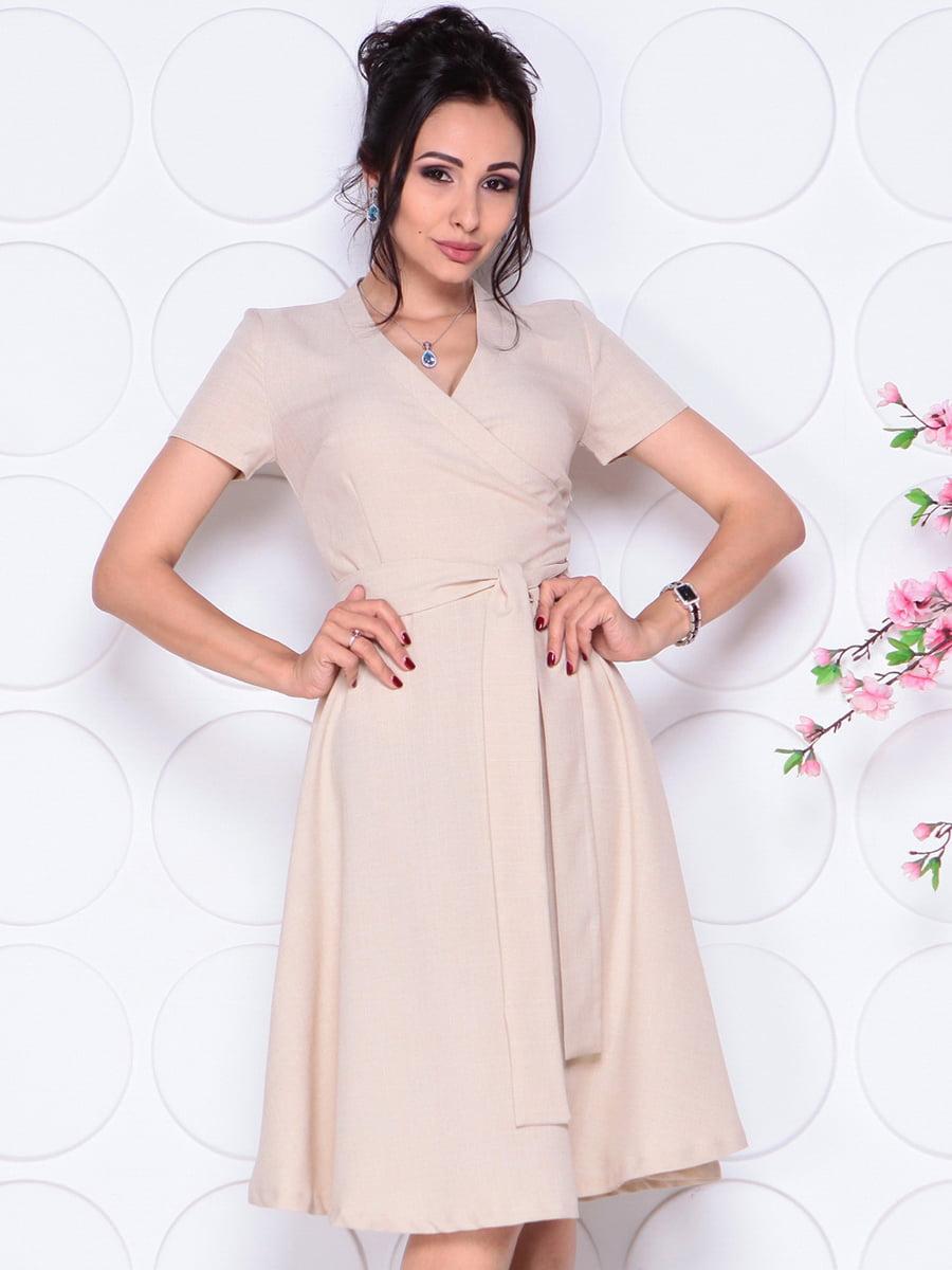 Платье бежевое | 4297702 | фото 5