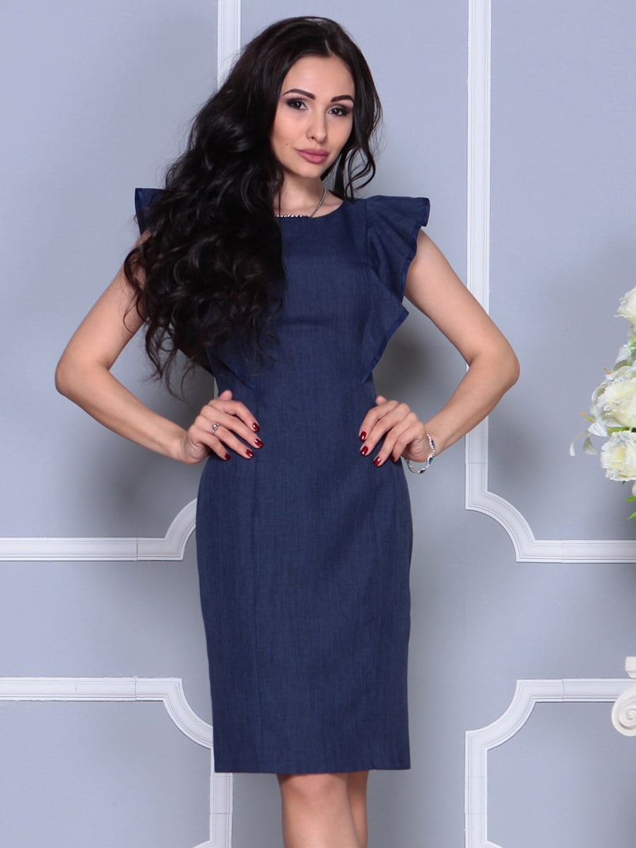 Платье темно-синее | 4297703 | фото 3