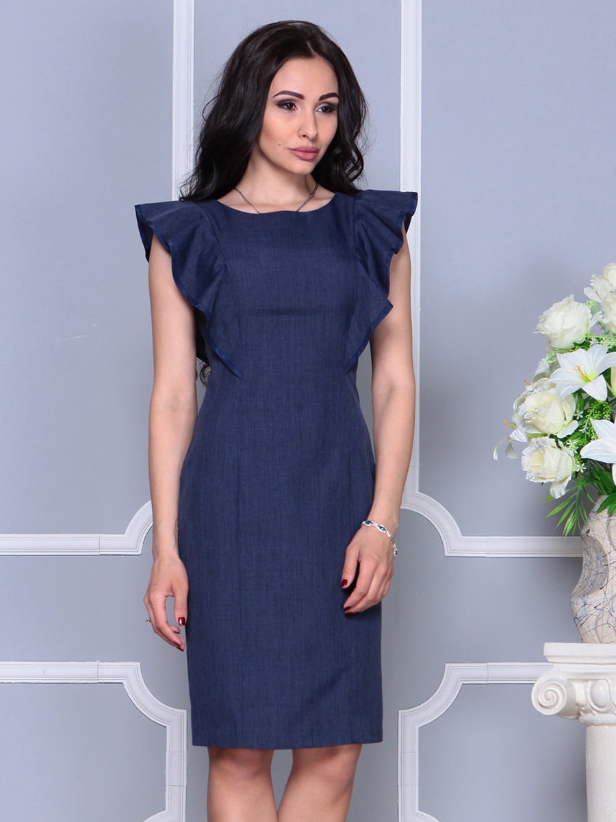 Платье темно-синее | 4297703 | фото 4