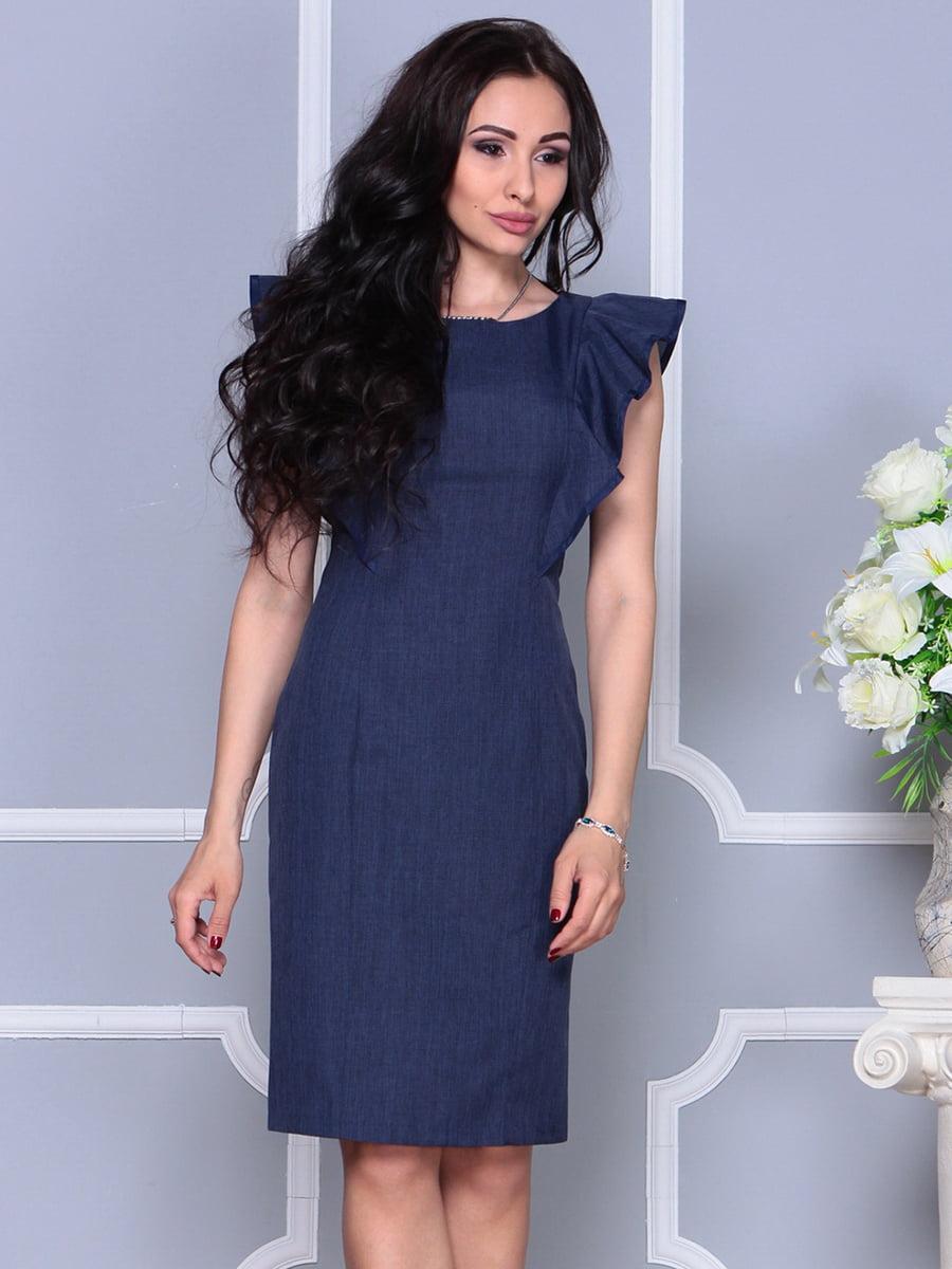 Платье темно-синее | 4297703 | фото 5