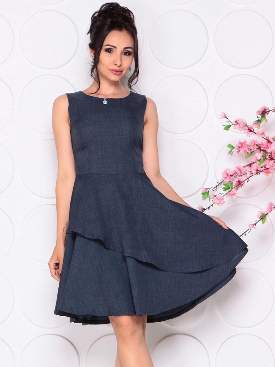 Платье темно-синее | 4297719 | фото 3