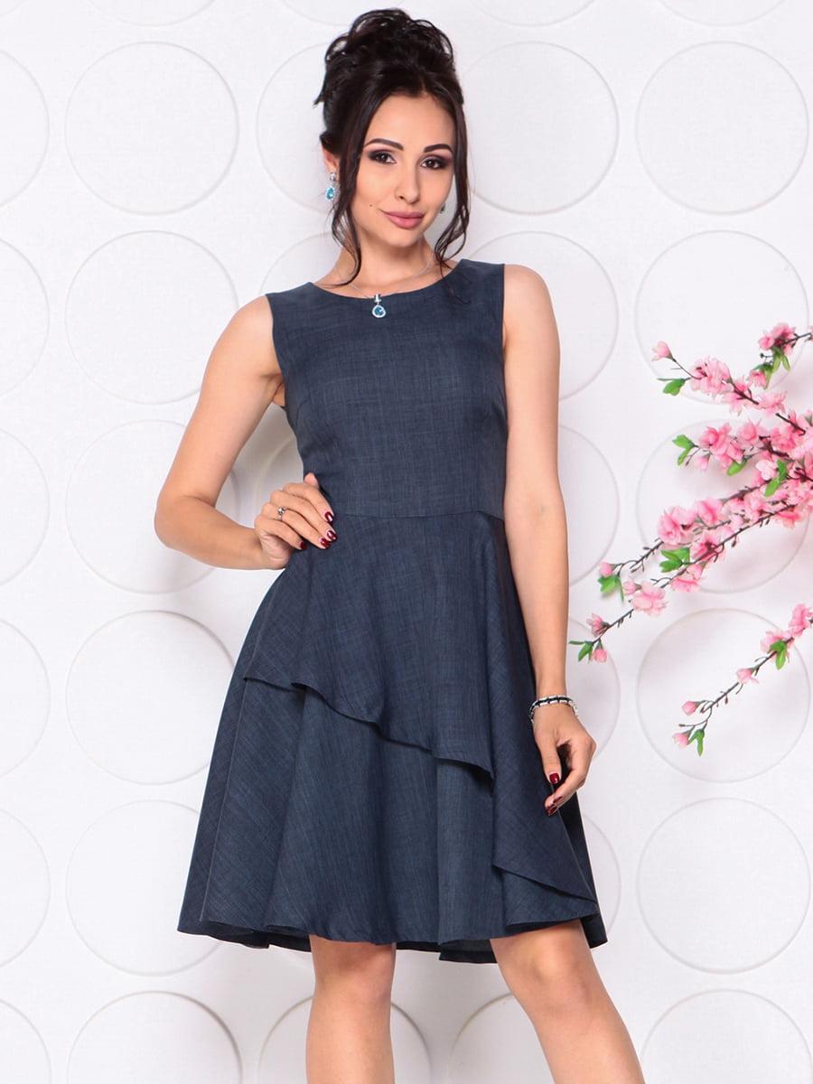 Платье темно-синее | 4297719 | фото 4