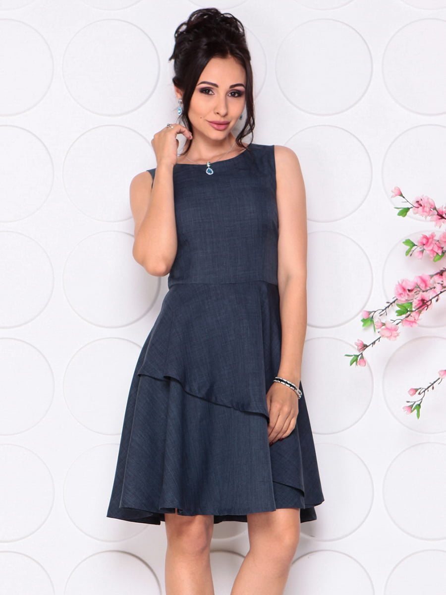 Платье темно-синее | 4297719 | фото 5