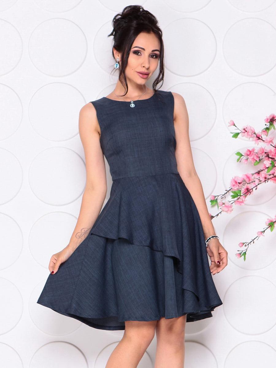 Платье темно-синее | 4297719