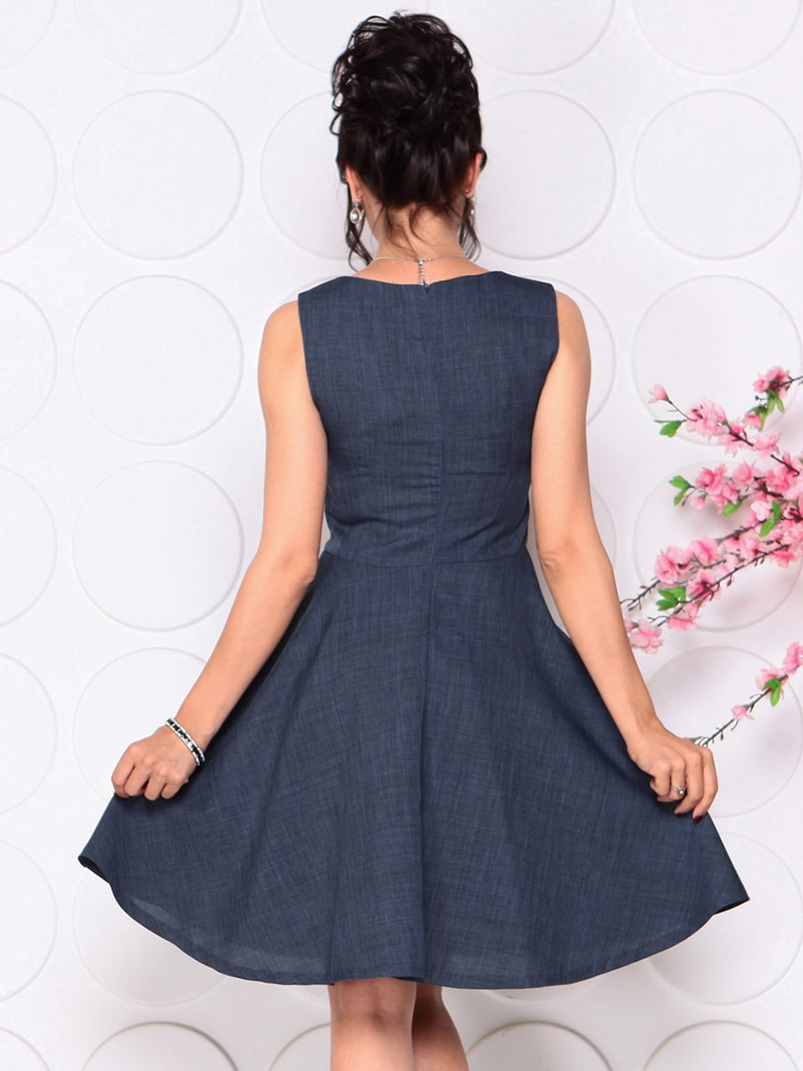 Платье темно-синее | 4297719 | фото 2