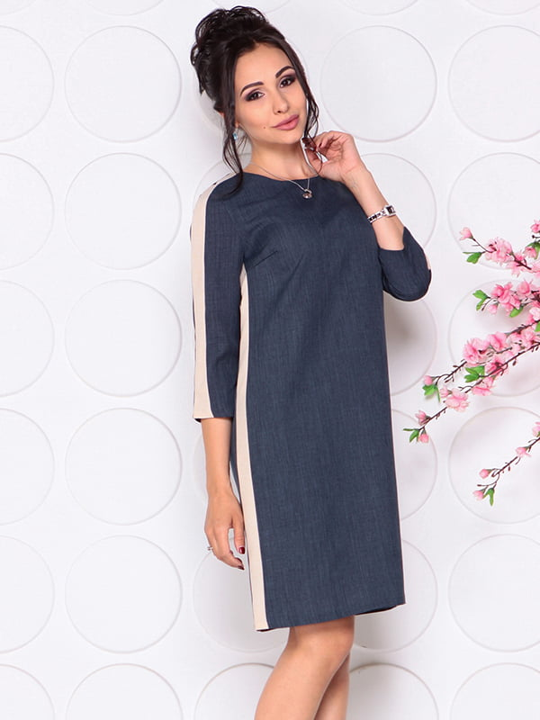 Платье темно-синее | 4297729 | фото 3