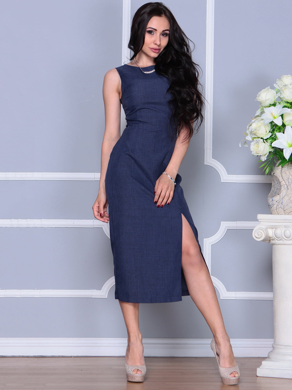 Платье темно-синее | 4297731 | фото 3