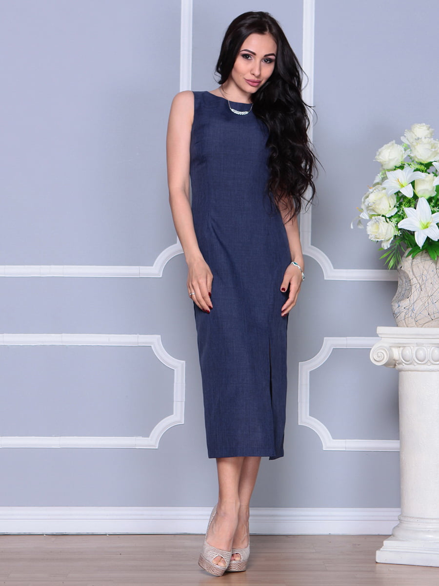 Платье темно-синее | 4297731 | фото 5
