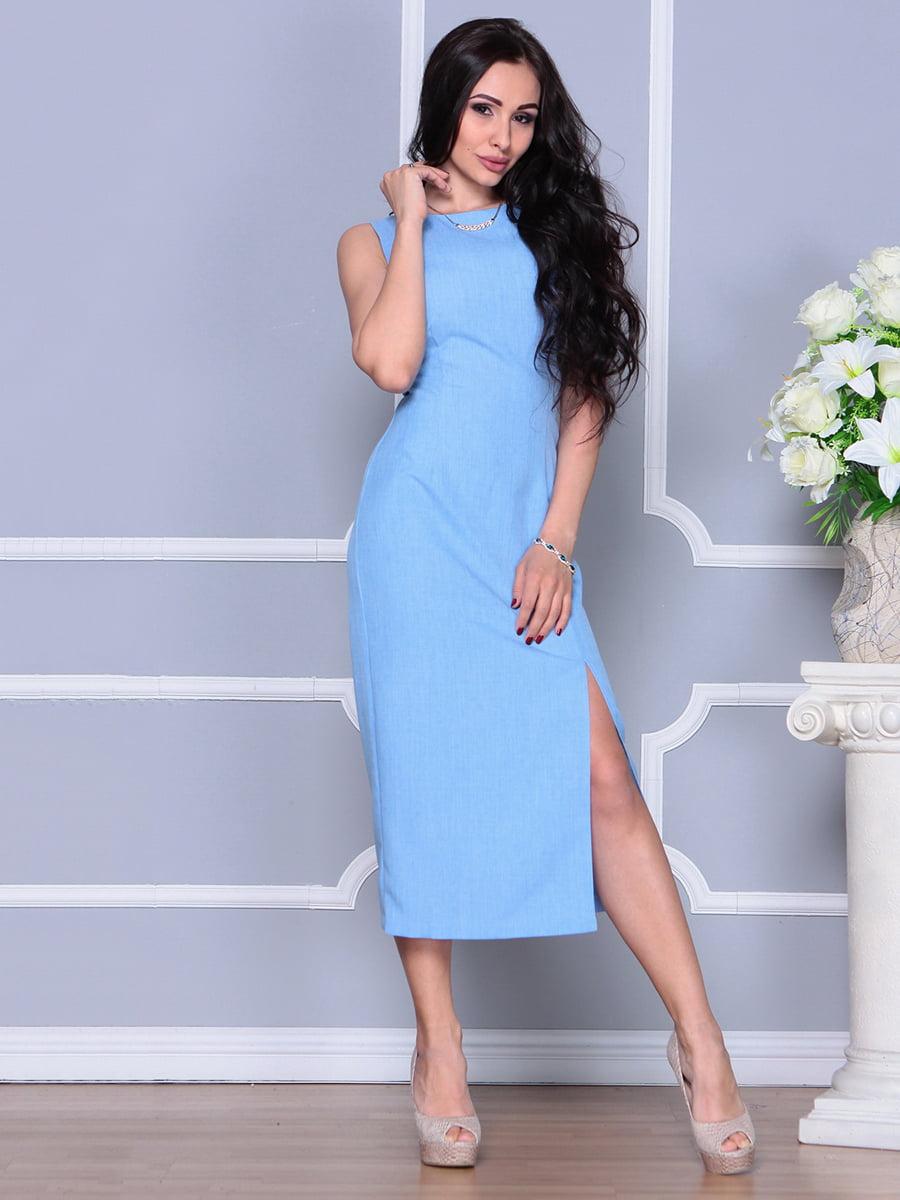 Платье голубое   4297732   фото 3